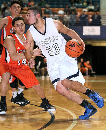Brad Davis/The Register-Herald<br /> Shady Spring's Nathan Williams drives during Big Atlantic Classic action Friday evening at the Beckley-Raleigh County Convention Center.