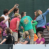 Rick Barbero/The Register-Herald<br /> Spectators takes a selfie during the New Orleans Saints first day of practice held at The Greenbrier Resort in White Sulphur Springs Thursday morning.