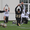 Rick Barbero/The Register-Herald<br /> Players working out during the New Orleans Saints first day of practice held at The Greenbrier Resort in White Sulphur Springs Thursday morning.