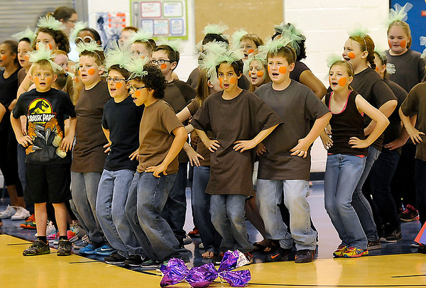 """Brad Davis/The Register-Herald<br /> Bradley Elementary students perform """"Willy Wonka and the Chocolate Factory"""" during the 10th Annual Night of the Arts June 4 in Beckley."""