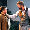 Brad Davis/The Register-Herald<br /> Actors Ryan Horne, left, and Jason Adkins perform a scene during Theatre West Virginia's production of Honey in the Rock June 19 at Grandview Park's Cliffside Amphitheatre.