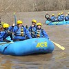 Rick Barbero/The Register-Herald<br /> Parents and students from Mary, Queen of Peace Catholic School in Mandeville, LA, enter the New River for the first raft trip of 2015. Ace Adventure Resort guided the trip from Stonecliff to Cunard section upstream of the gorge.