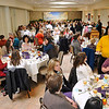Brad Davis/The Register-Herald<br /> Beckley Bridal, Prom and Special Occasions Fair patrons pack the banquet area during the brunch portion of the event Saturday morning at Tamarack.