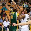Brad Davis/Register-Herald<br /> Greenbrier East's Ty Walker drives to tha basket against Huntington's Dajon Congleton Thursday night.