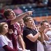 Chris Jackson/The Register-Herald<br /> Woodrow Wilson students cheer on their side as they host George Washington  Tuesday during their Region III Co-Final at the Beckley-Raleigh County Convention Center in Beckley.
