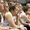 Brad Davis/The Register-Herald<br /> Wyoming East players react from the bench after events turned against the Lady Warriors late in a heartbreaking 55-44 loss Friday night at the Charleston Civic Center.