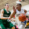 Chris Jackson/The Register-Herald<br /> Valley's (5) dribbles past Fayetteville's (30) during the second half of their basketball sectional Wednesday in Oak Hill.