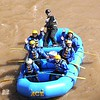 Rick Barbero/The Register-Herald<br /> Parents and students from Mary, Queen of Peace Catholic School in Mandeville, LA, travel down the New River in Thurmond for the first raft trip of 2015. Ace Adventure Resort guided the trip from Stonecliff to Cunard section upstream of the gorge.