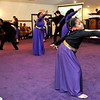 Brad Davis/The Register-Herald<br /> Performers from Heart of God's Performing Arts group performs interpretive ministry for the crowd attending the church's Black History Month celebration Sunday evening.