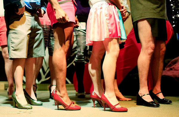 Chris Jackson/The Register-Herald<br /> The second annual BNI Hunks In Heels at the Beckley Moose Lodge on Friday.
