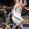 Brad Davis/The Register-Herald<br /> Wyoming East's Allie Lusk scores Thursday evening at the Charleston Civic Center.