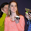 Brad Davis/The Register-Herald<br /> Peterstown resident and bride-to-be Brittany Greenlief, middle, finds herself with the lucky cupcake containing the grand prize of a complete furniture set from Grand Home Furnishings during the awards portion of the Beckley Bridal, Prom and Special Occasions Fair Saturday afternoon at Tamarack.