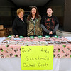 Brad Davis/The Register-Herald<br /> Just Like Grandma's Baked Goods owners (from left) Jane Meadows, Elizabeth Meadows and Morgan Noe pose for a quick photo at the Neville Street Market Saturday morning.