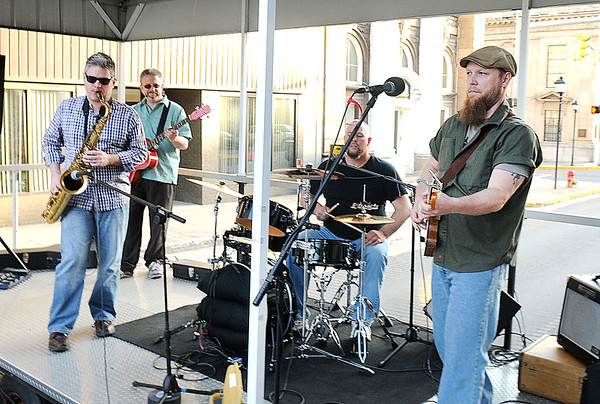 Rick Barbero/The Register-Herald<br /> Black King Coal band performed for Celebrity Night Monday at Fosters on Main Street in Beckley.