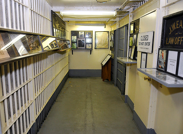 Brad Davis/The Register-Herald<br /> The Fayette County Jail and law enforcement museum is packed with items used in the field through the generations.