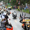 Rick Barbero/The Register-Herald<br /> Over 500 bikers parade through the town of Rainelle Thursday afternoon as they make their Run for the Wall to Washington, DC