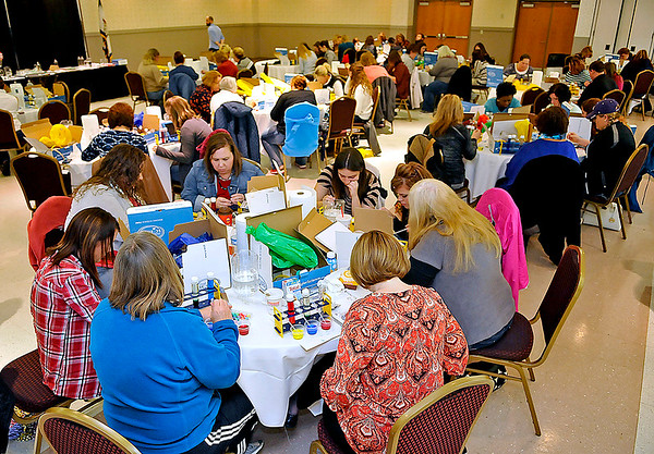 Brad Davis/The Register-Herald<br /> Registration was full for Saturday's RESA One seminar for area 3rd through 5th grade teachers featuring award winning author, television personality and science teacher Steve Spangler.