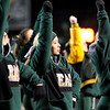 Chris Jackson/The Register-Herald<br /> Greenbrier East's cheerleaders cheer on their side during their football game against Princeton Friday in Fairlea.
