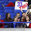 Brad Davis/The Register-Herald<br /> Independence fans and family members take in the Patriots game against Ritchie County during the Class AA State Volleyball Tournament Friday morning at the Charleston Civic Center.