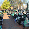 Rick Barbero/The Register-Herald<br /> Marshall University held their annual fountain ceremony at the Memorial Student Center Plaza Saturday morning honoring the 45th anniversary of the crash of Southern Airways Flight 932—a chartered airliner carrying the 1970 Marshall Football team that killed all 75 passengers and crew on board. The fountain, made of 75 upward-pointing rods to represent the victims, is turned off every year at the ceremony and remains off until spring practice begins for the following season. In all, 37 players, eight coaches, 25 fans and five crew members were killed in what stands as one of the worst tragedies in collegiate sports history.