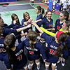 Brad Davis/The Register-Herald<br /> A bummed out but proud Independence team comes together to congratulate each other on a great season following the Patriots' loss to Ritchie County in the Class AA State Volleyball Tournament Friday morning at the Charleston Civic Center.