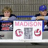 Brad Davis/The Register-Herald<br /> Independence family members relax during a break in the Patriots game against Ritchie County during the Class AA State Volleyball Tournament Friday morning at the Charleston Civic Center.