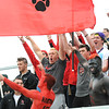 Rick Barbero/The Register-Herald<br /> Pikeview fans during game against Weir in the class AA/A semi-final match of the State Soccer Tournament held at the YMCA soccer complex in Beckley Friday morning.