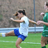 Rick Barbero/The Register-Herald<br /> Charleston Catholic vs Robert C Byrd in the girls class AA/A semi-final match of the State Soccer Tournament held at the YMCA soccer complex in Beckley Friday afternoon.