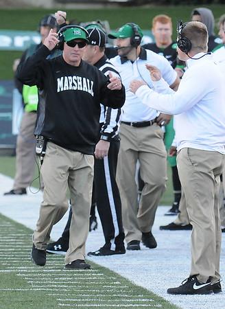 Rick Barbero/The Register-Herald<br /> Marshall vs FIU at Joan C. Edwards Stadium in Huntington.