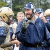 Rick Barbero/The Register-Herald<br /> Shady Spring head coach Vince Culicerto, speaks with his quarterback Jarod Cline during game against Oak Hill Saturday afternnoon at Shady Spring High School.