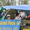 Rick Barbero/The Register-Herald<br /> Cup Scout Pack 16 in the Shady Spring homecoming parade on Route 19 in Shady Spring Saturday morning.