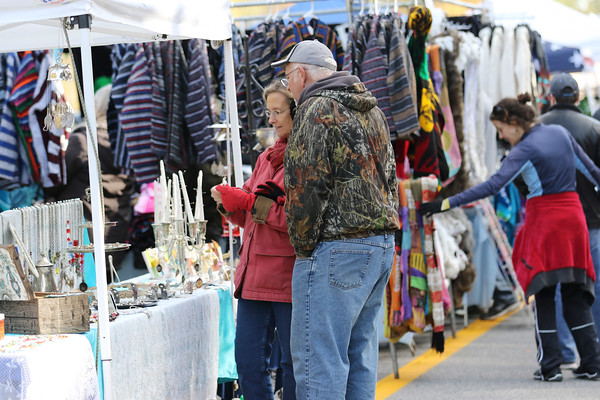 Chris Jackson/The Register-Herald<br /> People enjoy the vendors during the annual Bridge Day event in Fayetteville on Saturday.
