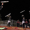 Brad Davis/The Register-Herald<br /> The Woodrow Wilson Flag Corps warm up for their halftime show performance Friday night in Beckley.