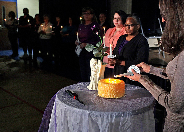 Brad Davis/The Register-Herald<br /> The 25th Annual Women's Resource Center Candlelight Vigil Saturday night.
