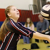 Chris Jackson/The Register-Herald<br /> Greater Beckley Christian's Fayth Mitchell (10) vollies during warm-ups at Independence High School.
