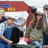 Rick Barbero/The Register-Herald<br /> FFA students in the Shady Spring homecoming parade on Route 19 in Shady Spring Saturday morning.