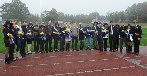 Rick BArbero/The Register-Herald<br /> Shady Spring Homcoming Court.