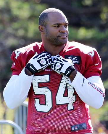 Chris Jackson/The Register-Herald<br /> Arizona Cardinals Dwight Freeney (54) during their practice at The Greenbrier's AdvoCare Sports Performance Center in White Sulphur Springs on Wednesday.