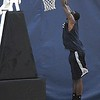 Rick Barbero/The Register-Herald<br /> Kendrick Perkins dunks during the New Orleans Pelicans training camp held at The Greenbrier Resort in White Sulphur Springs Tuesday afternoon.