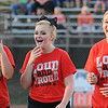 Rick Barbero/The Register-Herald<br /> Liberty cheerleaders having a few laughs before game against Summers Co. at Liberty High School.