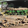 Rick Barbero/The Register-Herald<br /> Wood being processed at the Allegheny Wood Products plant in Smoot Monday morning.
