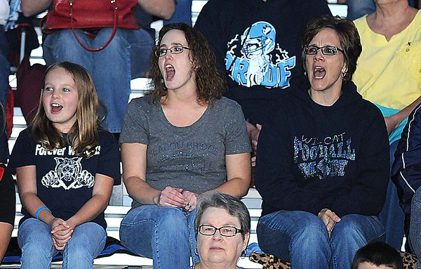 Rick Barbero/The Register-Herald<br /> eadow Bridge fans Friday night at Midland Trail High School in Hico.