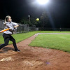 Brad Davis/The Register-Herald<br /> 13-year-old Meagan Harper, a veteran softball player, takes aim and loads up to crush a slow, floating pitch during the Kids Classic Home Run Derby Saturday night at the Beckley Little League fields. Several area boys and girls showed up for the friendly competition, and for five dollars each got 10 swings to see how far they could hit a softball.