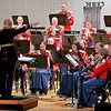 Brad Davis/The Register-Herald<br /> Led by Lt. Col. Jason K. Fettig at left, the President's Own United States Marine Band performs during a national concert tour stop at the Woodrow Wilson High School Auditorium Wednesday night in Beckley.