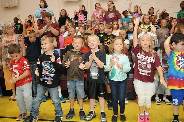 Rick Barbero/The Register-Herald<br /> Crescent Elementary School on Crescent Road in Beckley celebrated for being named one of the best schools in the state. Crescent was only one of nine out of seven hundred elementary schools in WV to receive the School of Excellence award.