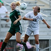 Chris Jackson/The Register-Herald<br /> Woodrow Wilson's Kerrigan Johnson (15) vies for possession of the ball with a Winfield player during their soccer game at Paul Cline Stadium in Beckley on Tuesday.