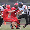 Rick Barbero/The Register-Herald<br /> Matt Ryan, 2, of Summers Co. breaks away for a large gain during game against Liberty Friday Night.