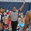 Brad Davis/The Register-Herald<br /> Area referee Pat Standard works New Orleans Pelicans training camp Wednesday afternoon in White Sulphur Springs.