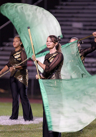 Brad Davis/The Register-Herald<br /> The Flying Eagles marching band performs at halftime during Woodrow Wilson's game against Bluefield Friday night in Beckley.