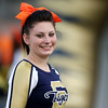 Chris Jackson/The Register-Herald<br /> A Shady Spring cheerleader looks on as they hosted Logan on Friday, in Shady Spring.